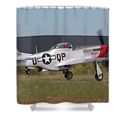 Sparky Takeoff Shower Curtain
