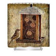 Sparrow On The Feeder Shower Curtain