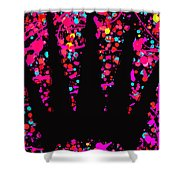 Speck Of Time Pink Shower Curtain