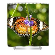 Speckled Butterfly Shower Curtain
