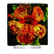 Speckled Petunia Shower Curtain