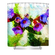 Speckled Trout The Flower Shower Curtain