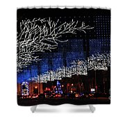 Spectacular Christmas Lighting In Madrid, Spain Shower Curtain