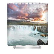 Spectacular Godafoss Shower Curtain
