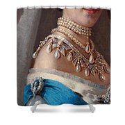 Historical Fashion, Royal Jewels On Empress Of Russia, Detail Shower Curtain