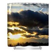 Spectacular Sunrise In Clouds Shower Curtain
