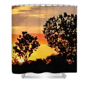 Spectacular Sunset In The Midwest Shower Curtain