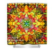 Spectracalia In Yellow Catus 1 No. 3 H A Shower Curtain