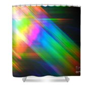 Spectral Blur Shower Curtain