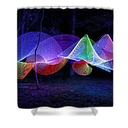 Spectrum Trees Shower Curtain