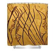 Speech Trails - Tile Shower Curtain