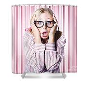 Speechless Nerd Covering Ears In Silent Shock Shower Curtain