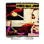 Speed Ball Junk Shower Curtain