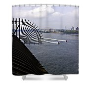Speed Boats On The East River Shower Curtain