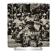 Speedy Motorcycle Shower Curtain