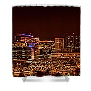 Speer Blvd Bridge Shower Curtain