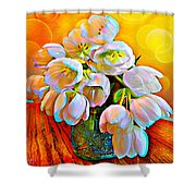 Spektrel Flowers Shower Curtain