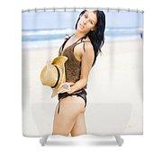 Spellbound Beach Beauty Shower Curtain