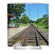 Spencer Railroad Station 2 Shower Curtain