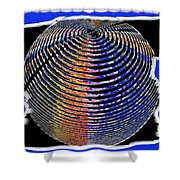 Sphere In Blue Shower Curtain