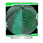 Sphere In Green Shower Curtain