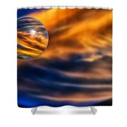 Sphere Of Influence Shower Curtain