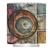 Spheres Abstract Shower Curtain