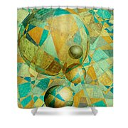 Spheres Of Life's Changes Shower Curtain