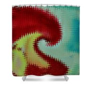 Spherical Colours Shower Curtain