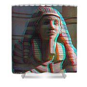 Sphinx - Use Red-cyan 3d Glasses Shower Curtain