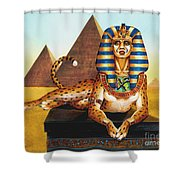 Sphinx On Plinth Shower Curtain