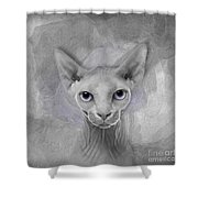 Sphynx No 19 Shower Curtain