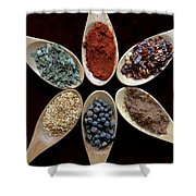 Spice Round Shower Curtain