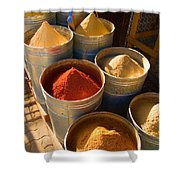 Spices In Marrakesh Morroco Shower Curtain