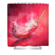 Spicy Food Art Shower Curtain