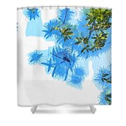 Spider Or Plants Shower Curtain