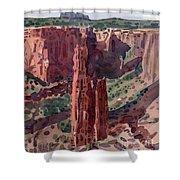 Spider Rock Overlook Shower Curtain