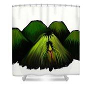 Spider Volcano Progression 2 Shower Curtain