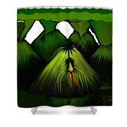 Spider Volcano Progression 5 Shower Curtain