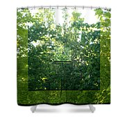 Spider-web Squares Shower Curtain