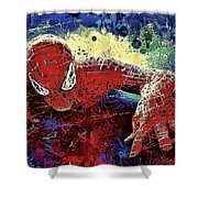 Spiderman Climbing  Shower Curtain