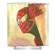 Spiderman Hiding Shower Curtain