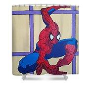 Spiderman  Shower Curtain