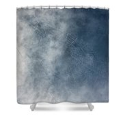 Spiderweb Against The Sky Shower Curtain