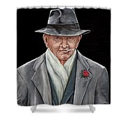 Spiffy Old Man Shower Curtain