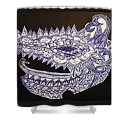 Spike Dragon Shower Curtain