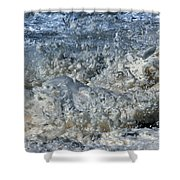 Spikey Frothy Splash Of A Momenary Water Sculpture Shower Curtain