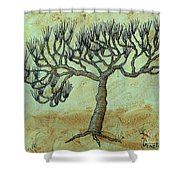 Spikey Tree No. 2 Shower Curtain