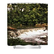 Spillway Early Morning Shower Curtain