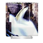 Spillway On The Canal Shower Curtain